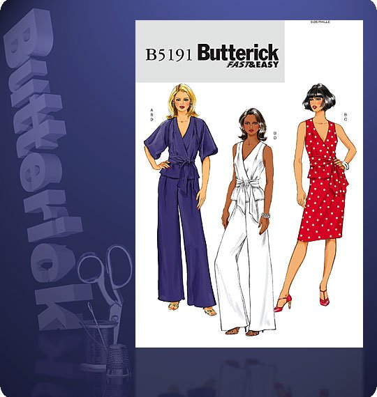 Butterick MISSES' JACKET, TOP, SASH, SKI 5191