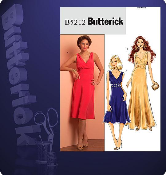 Butterick MISSES\' DRESS 5212