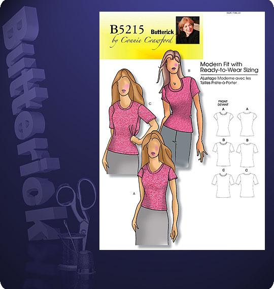 Butterick Short Sleeved T-Shir 5215