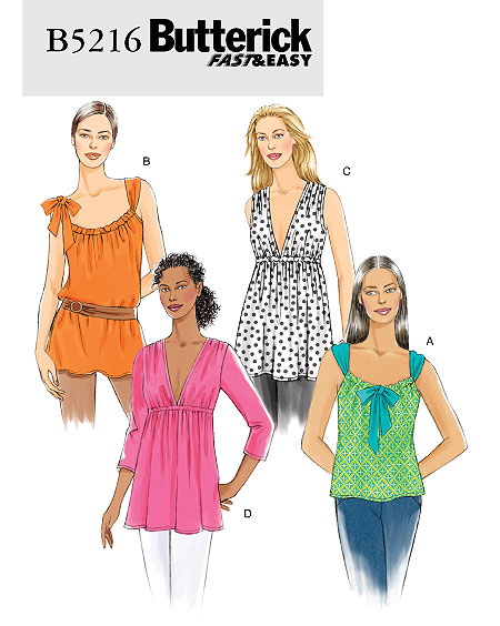 Butterick Misses' Top & Tunic 5216