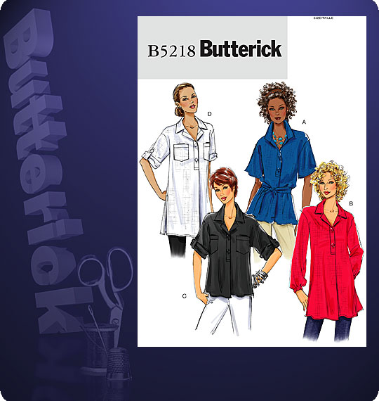 Butterick MISSES' TOP AND TUNIC 5218