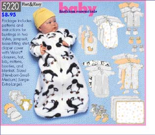 Butterick Baby Fashion Essentials 5220
