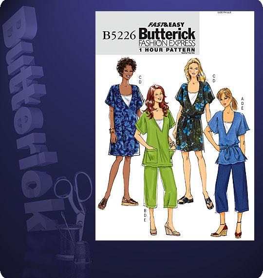 Butterick fashion express 1 hour pattern 5226