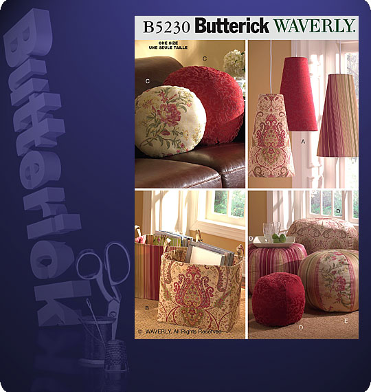 Butterick Room Accessories 5230