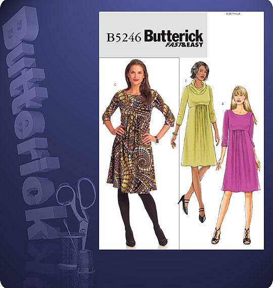 Butterick A-line Pullover Dress 5246