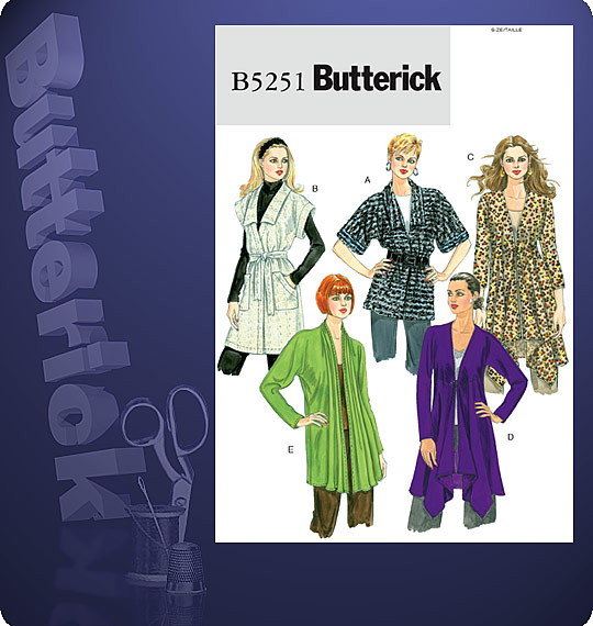 Butterick Cardigan and Belt 5251