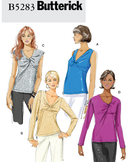 Butterick Misses Knit Tops 5283