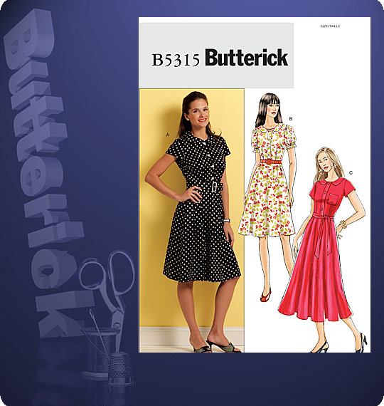 Butterick Semi fitted dress 5315