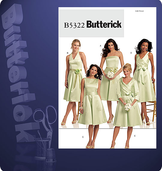Butterick MISSES\' DRESS AND SASH 5322