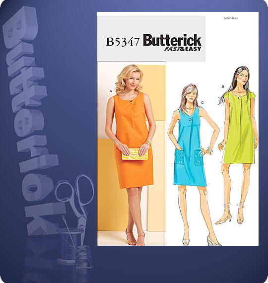 Butterick Cowl neck Sweater Dress 5347