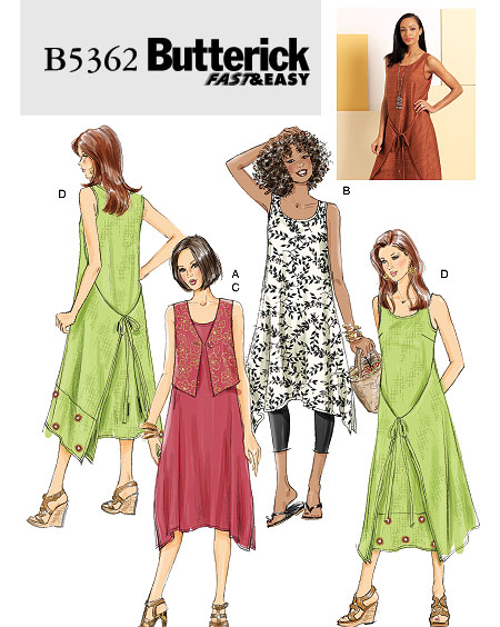 Butterick Misses petite dress 5362