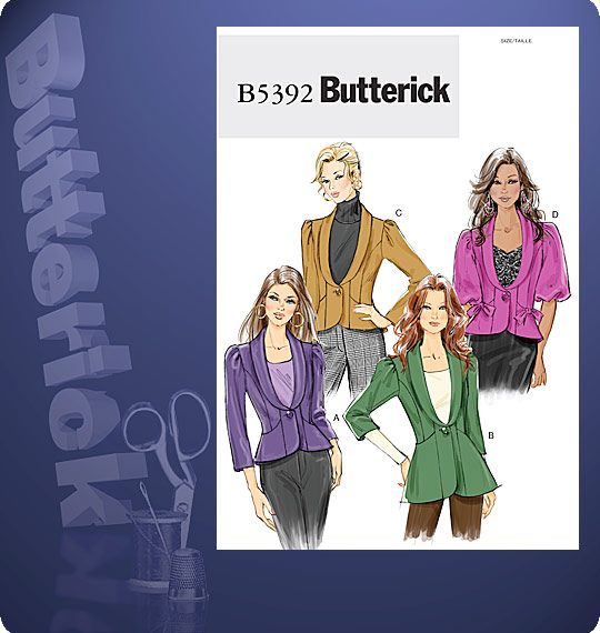 Butterick Fitted, Lined Jacket 5392