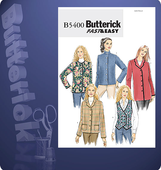 Butterick Vest and Jacket 5400