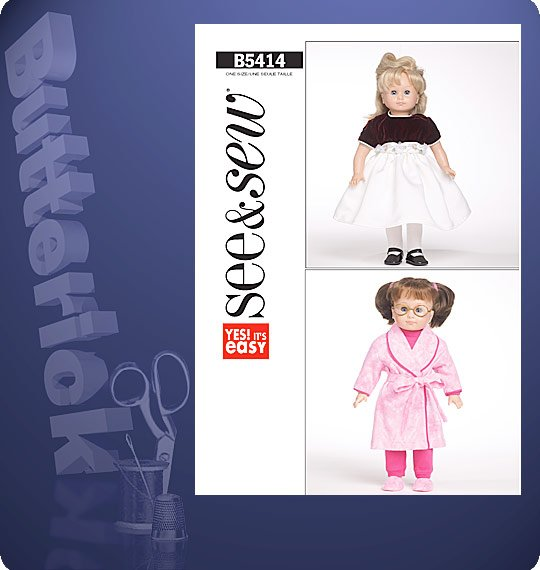 Butterick  DOLL CLOTHES FOR 18 DOLLS 5414