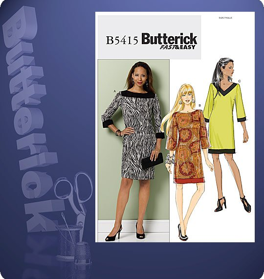 Butterick  MISSES'/MISSES' PETITE DRESS 5415