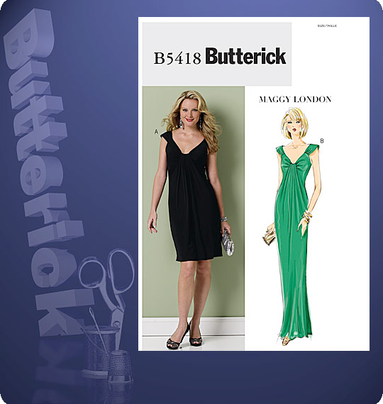 Butterick MISSES' /MISSES' PETITE DRESS 5418