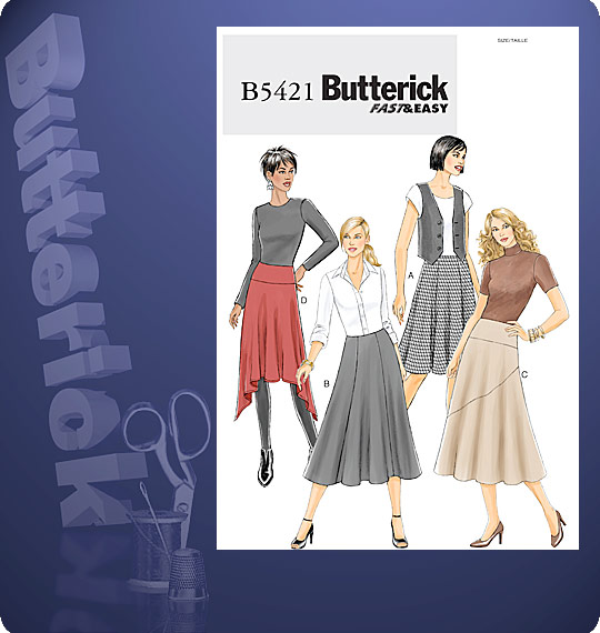 Butterick  MISSES' SKIRT 5421