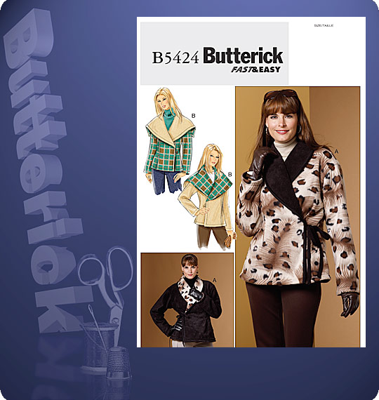 Butterick  MISSES' REVERSIBLE JACKET 5424