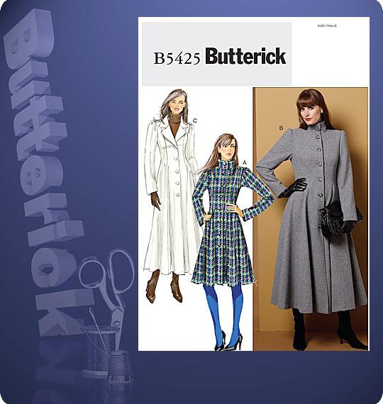 Butterick  MISSES'/MISSES' PETITE COAT 5425