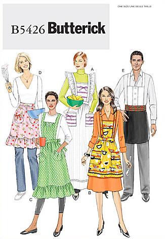 Butterick MISSES'/MEN'S APRON 5426