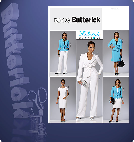 Butterick  MISSES' JACKET, DRESS, SKIRT AND PANTS 5428