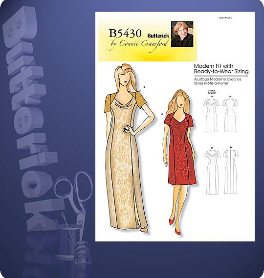Butterick MISSES/WOMEN'S DRESS 5430