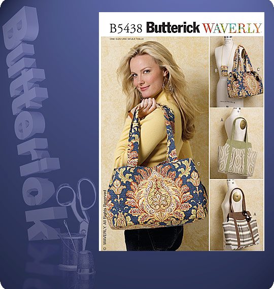 Butterick  TOTES AND CELL PHONE CASE 5438