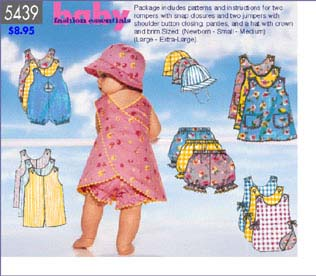 Butterick Baby Fashion Essentials 5439