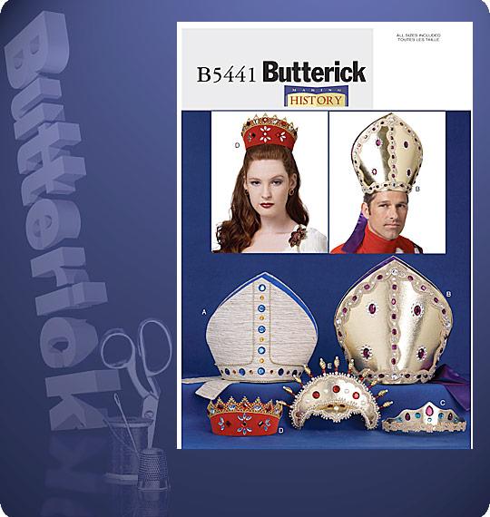 Butterick  MISSES'/MEN'S BISHOP HAT AND HEADPIECE 5441