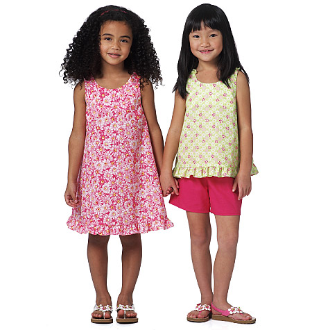 Butterick Toddler's/Children's Top, Dress and Shorts 5442