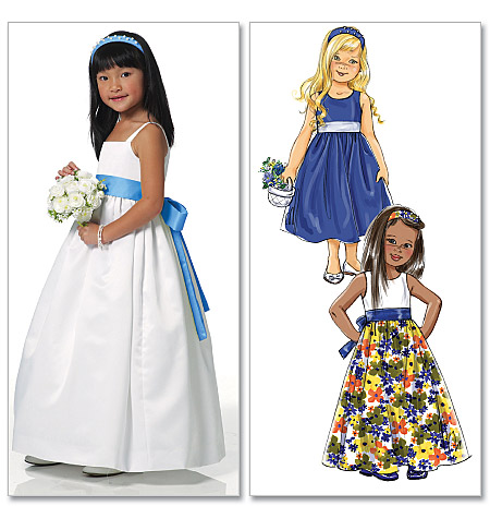 Butterick Children's/Girls' Dress, Sash and Headband 5458