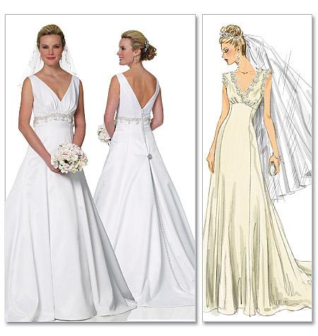 Как сшить платье в свадебном стиле 362