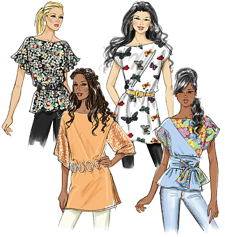 Butterick Misses' Top, Sash and Tunic 5463