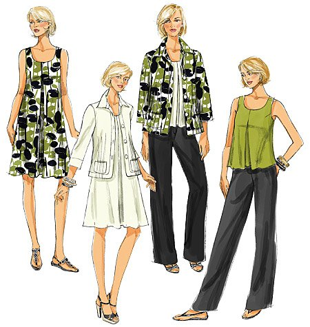Butterick Misses' Jacket, Top, Dress and Pants 5470