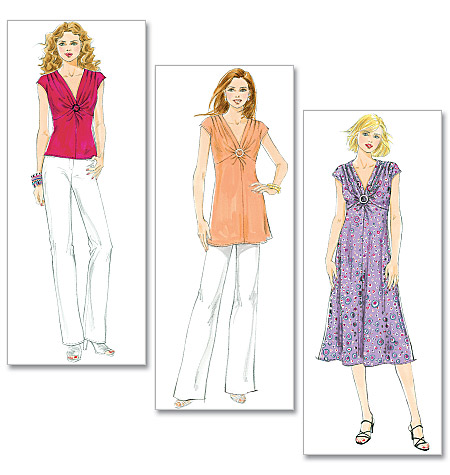 Butterick Misses' Top, Tunic and Dress 5484