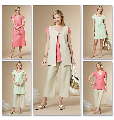 Butterick Misses' Vest, Top, Dress, and Pants 5501