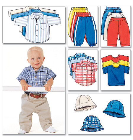 Butterick Infants' Shirt, T-Shirt, Pants and Hat 5510