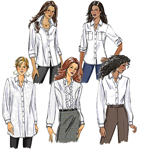 Butterick Misses' Shirt 5526
