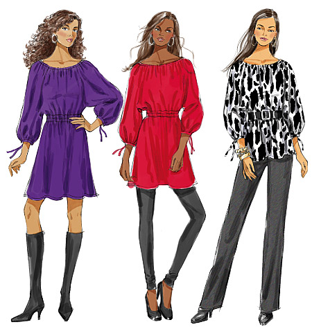 Butterick Misses' Top, Tunic and Dress 5527