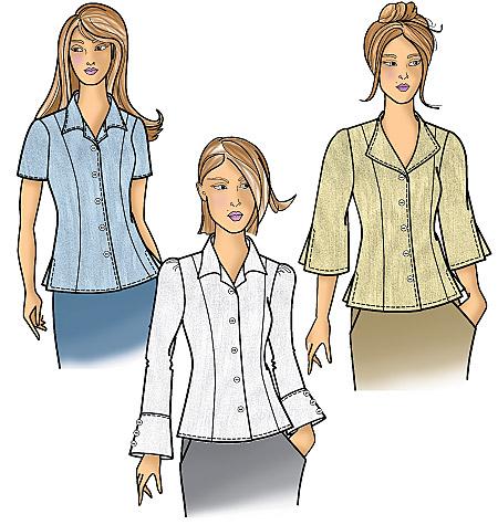 Butterick Misses' /Women's Blouse 5538