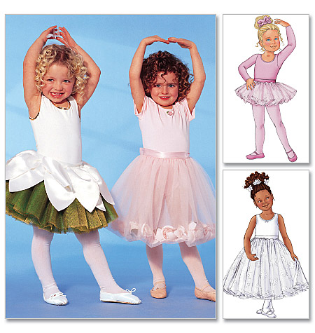 Butterick Children's/Girls' Leotard, Skirt, Bag and Ponytail Holder 5545