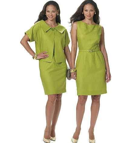 Butterick Misses'/Misses' Petite Jacket, Dress and Belt 5547
