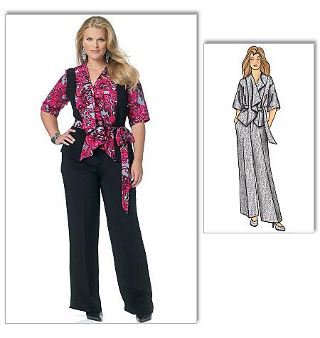 Butterick Misses'/Women's Jacket, Belt and Pants 5575