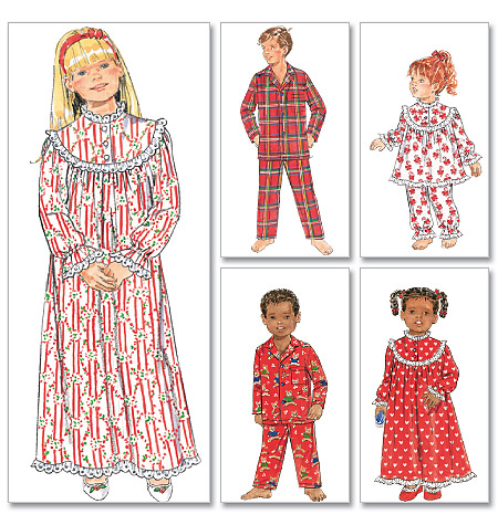Butterick Children'/Girls'/Boys' Nightgown, Top and Pants 5586