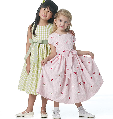 Butterick girls lined dress and sash