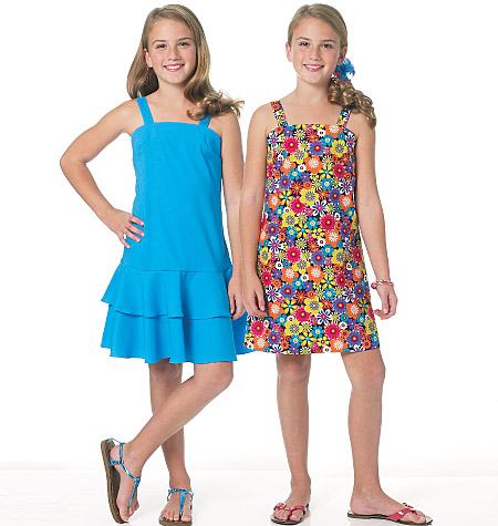 Butterick girls dress