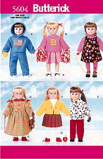 Butterick AG doll clothes coats 5604