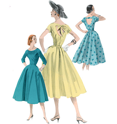 Butterick misses dress and belt