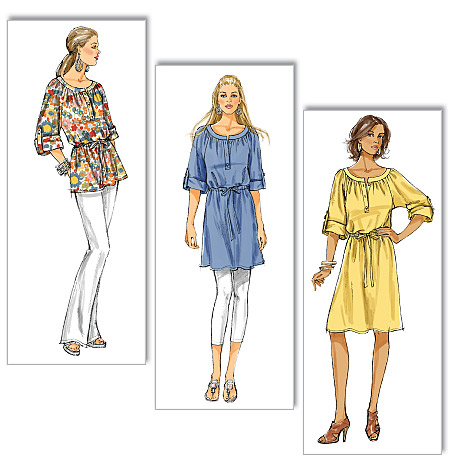 Butterick misses top, tunic, and dress