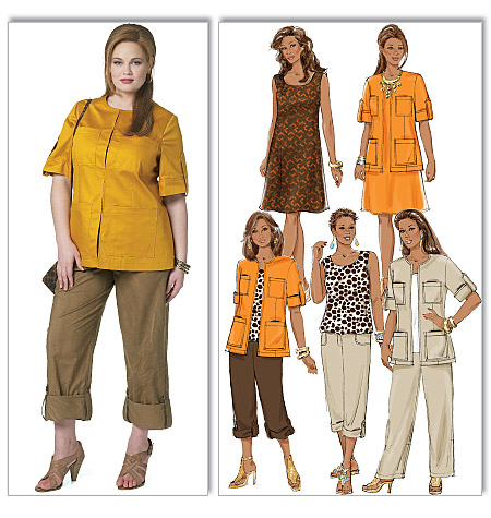 Butterick misses and women's jacket, top, dress, and pants 5618